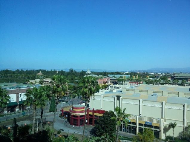 View from our room.  You can see parts of the park...so far away....