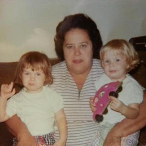 My beautiful Grandma with me and my cousin.  I am the blondie with the pink car...I miss her every  day.