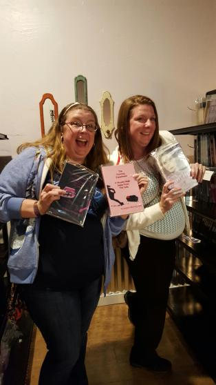 Seester and I found our books!